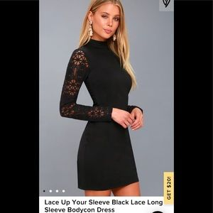 LULUs black long sleeve dress